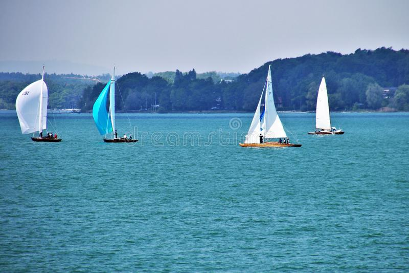 Sail, Sailboat, Water Transportation, Dinghy Sailing stock photo