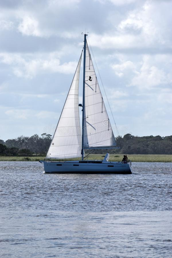 Sail, Sailboat, Water Transportation, Waterway stock image