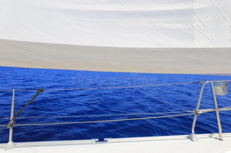 Sail sailing yacht. Open sea yacht royalty free stock images