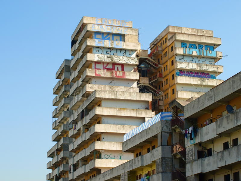 Sail of Scampia - Naples. Sail of area Scampia - Naples -Italy royalty free stock images