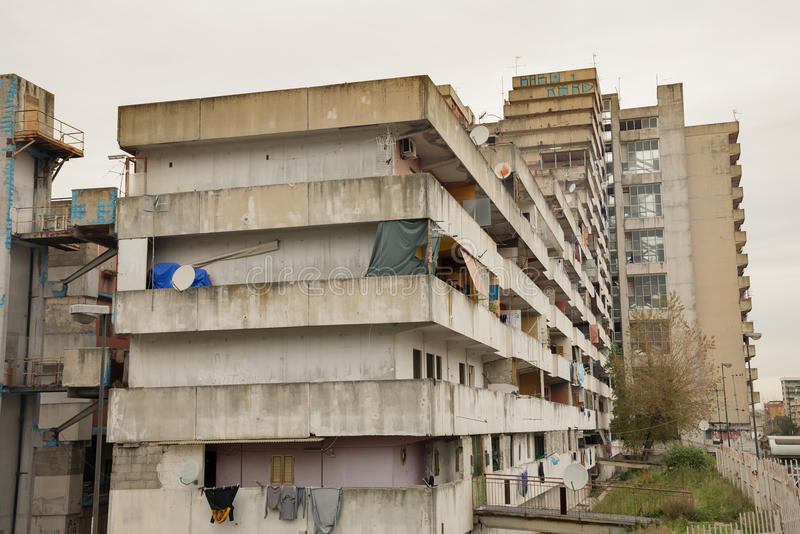 The sail of Scampia - Naples - Italy royalty free stock image