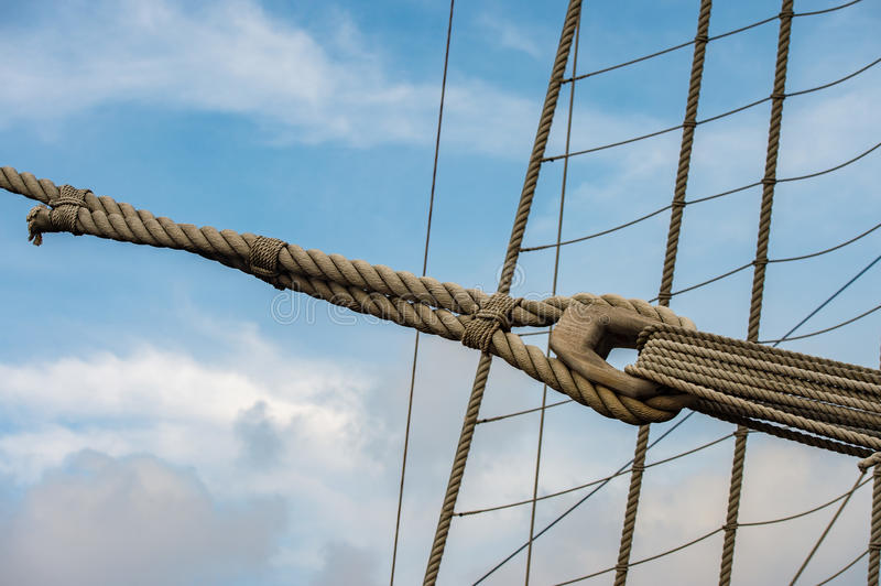 Sail Ship Shrouds Detail On Sky Stock Photo - Image of rigging, ship ...