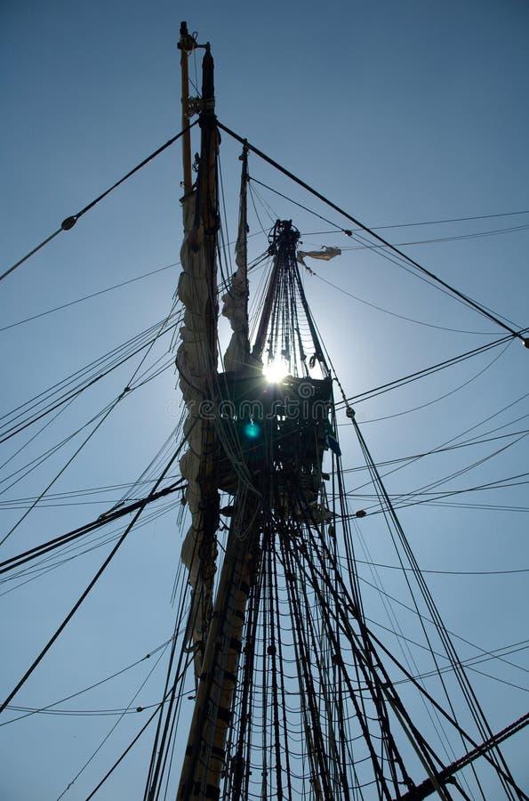 Sail Sillouette Stock Photo
