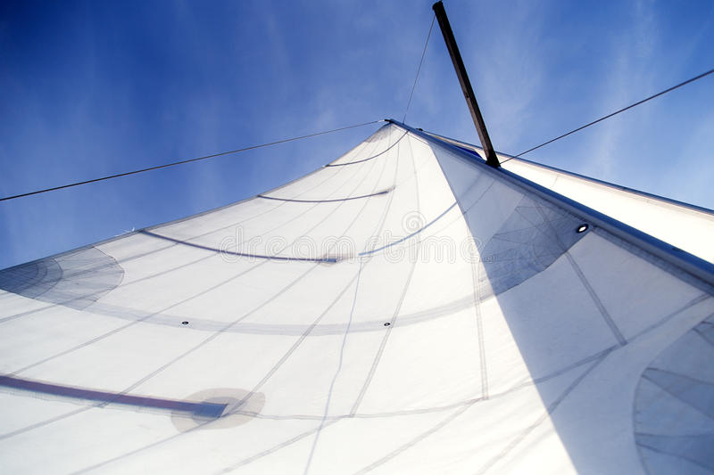 A sail. In the sky stock photography