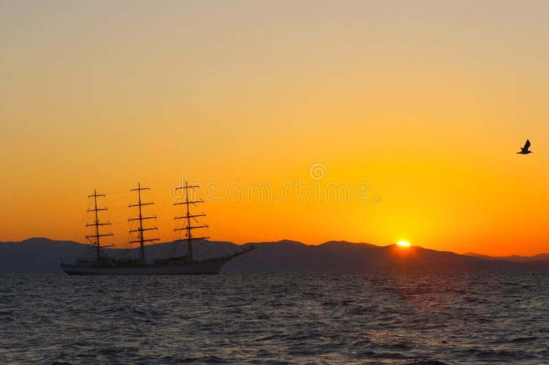 Download Sail on the sunset stock image. Image of holiday, sailing - 1233455