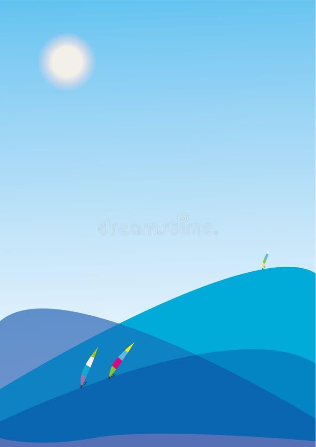 Free Sailboarding In Blue Sea Stock Image - 6126791