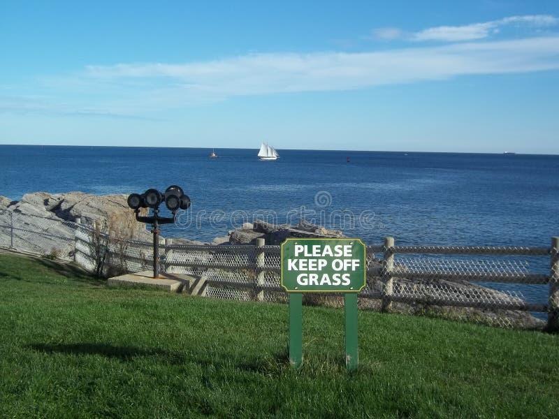 Sailboat ακρωτήριο Elizabeth Πόρτλαντ Maine στοκ εικόνες
