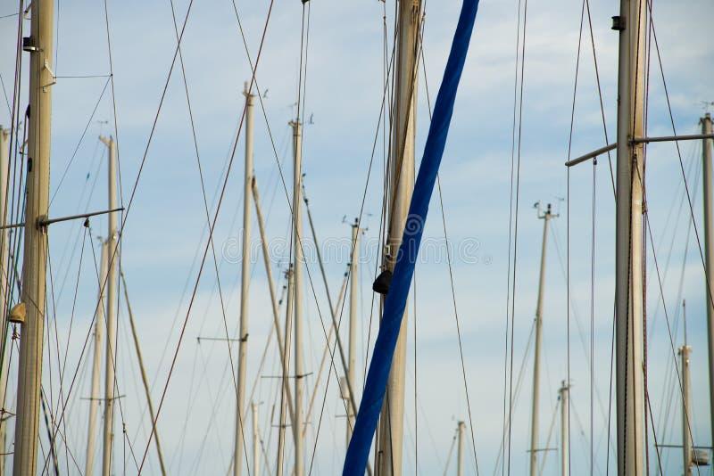 Sailboat ιστοί στοκ εικόνα