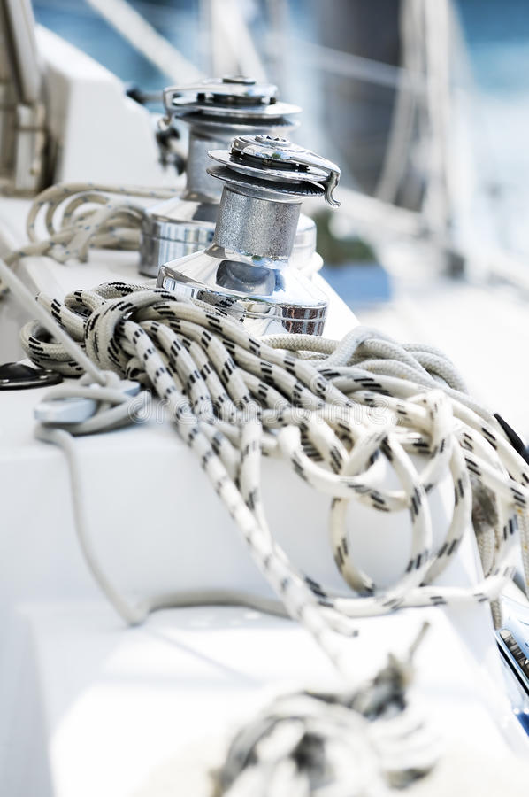 Sailboat λεπτομέρεια στοκ εικόνες με δικαίωμα ελεύθερης χρήσης