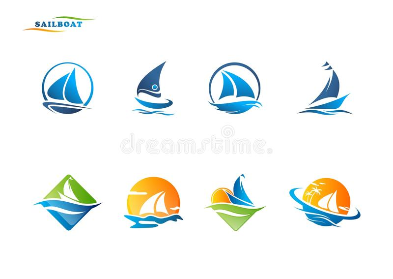 Sailboat λογότυπο απεικόνιση αποθεμάτων