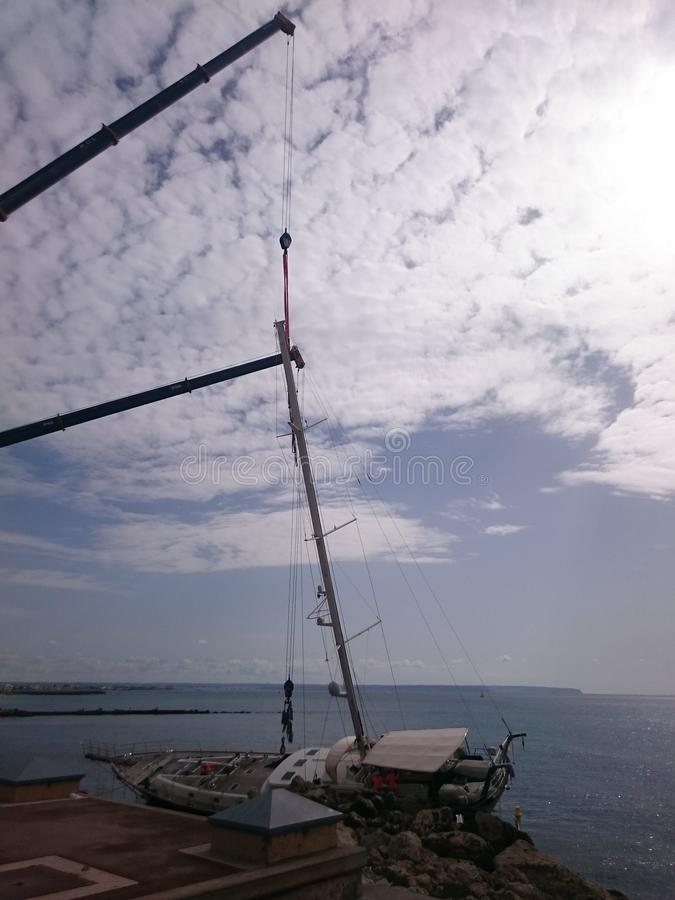 sailboat στη Πάλμα ντε Μαγιόρκα στοκ φωτογραφία με δικαίωμα ελεύθερης χρήσης