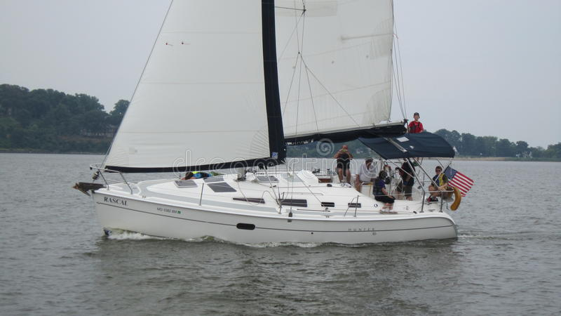 Sailboat στο Chesapeake στοκ εικόνες με δικαίωμα ελεύθερης χρήσης