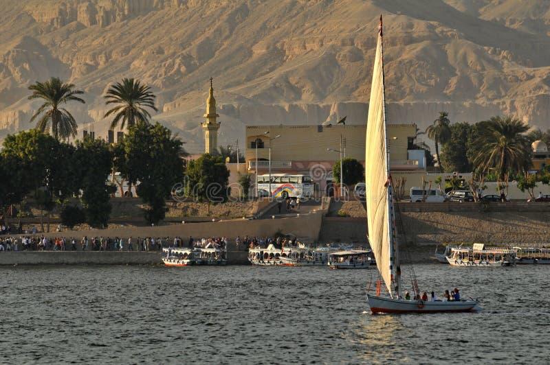 sailboat του Νείλου στοκ εικόνες