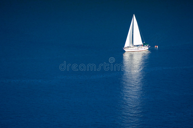 Sailboat. On adriatic sea - Croatia, Istria