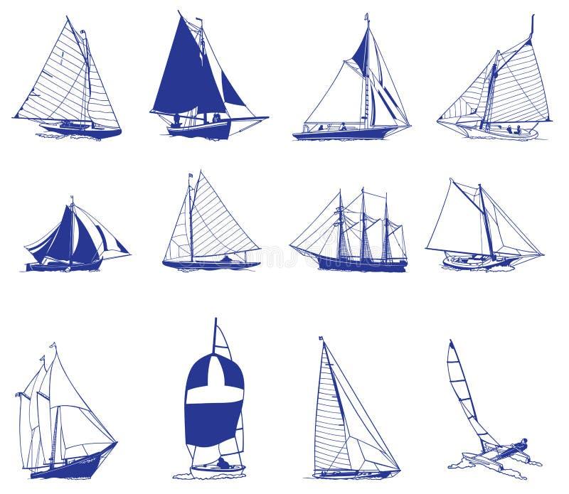 Download Sailboat stock illustration. Illustration of cargo, full - 12681281