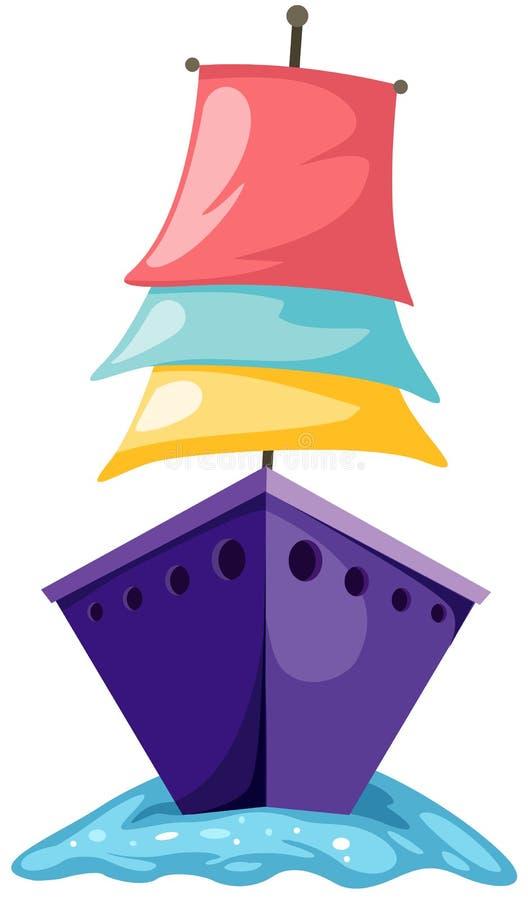 Sailboat ilustração do vetor