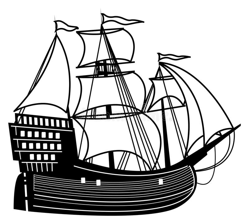Download Sailboat stock vector. Image of marine, float, antique - 25117962