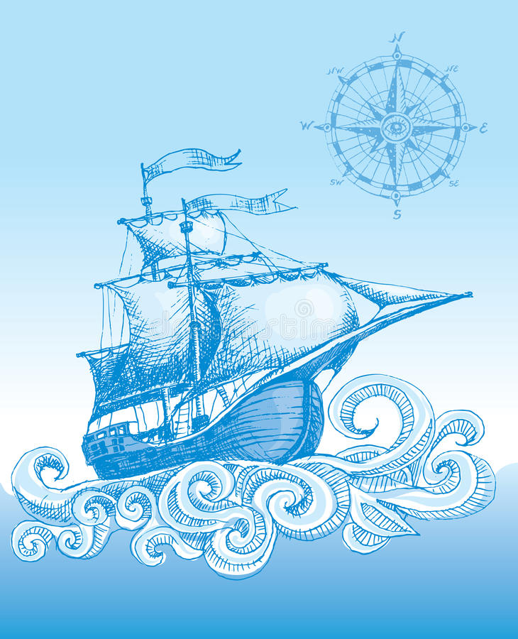 Sailboat ελεύθερη απεικόνιση δικαιώματος