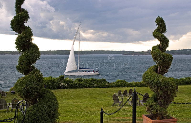 Download Sailboat And Approaching Storm Stock Photo - Image: 2693596