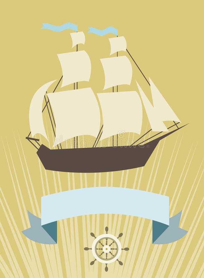 Download Sailboat With Banner For Your Message Stock Vector - Image: 31894558