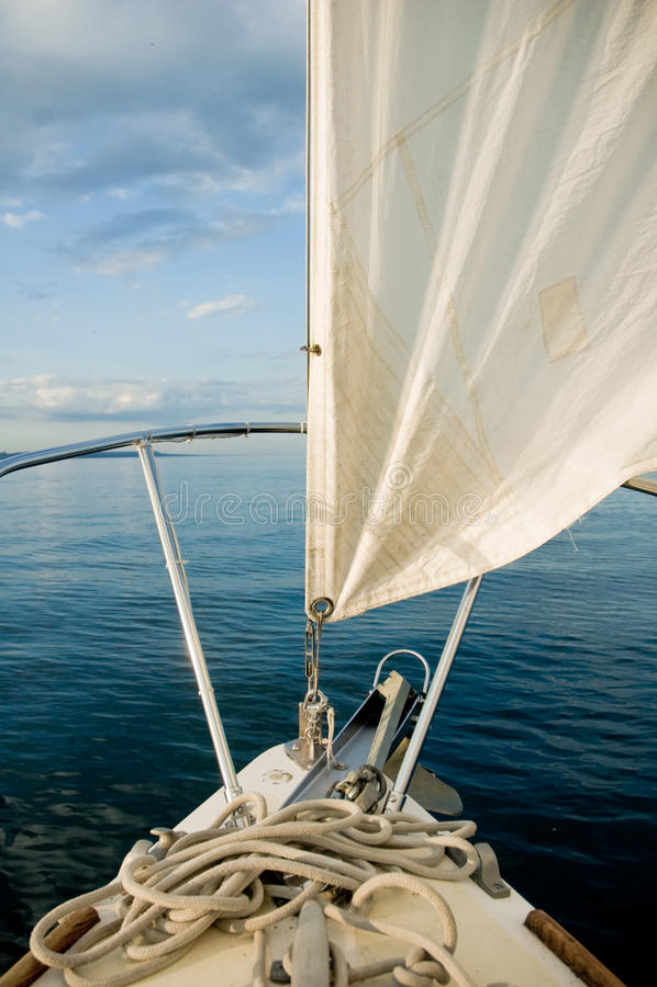 Download Sailboat in blue lake/seas stock photo. Image of horizon - 13914182