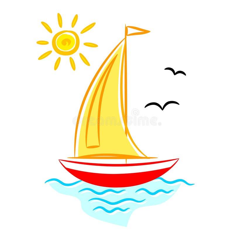 картинка кораблика с парусом для рефлексии выполнена