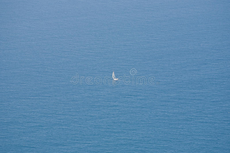 Download Sailboat And Boundless Ocean Stock Image - Image: 19486493