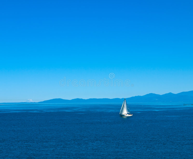 Download Sailboat in calm waters stock image. Image of sailing - 2937647
