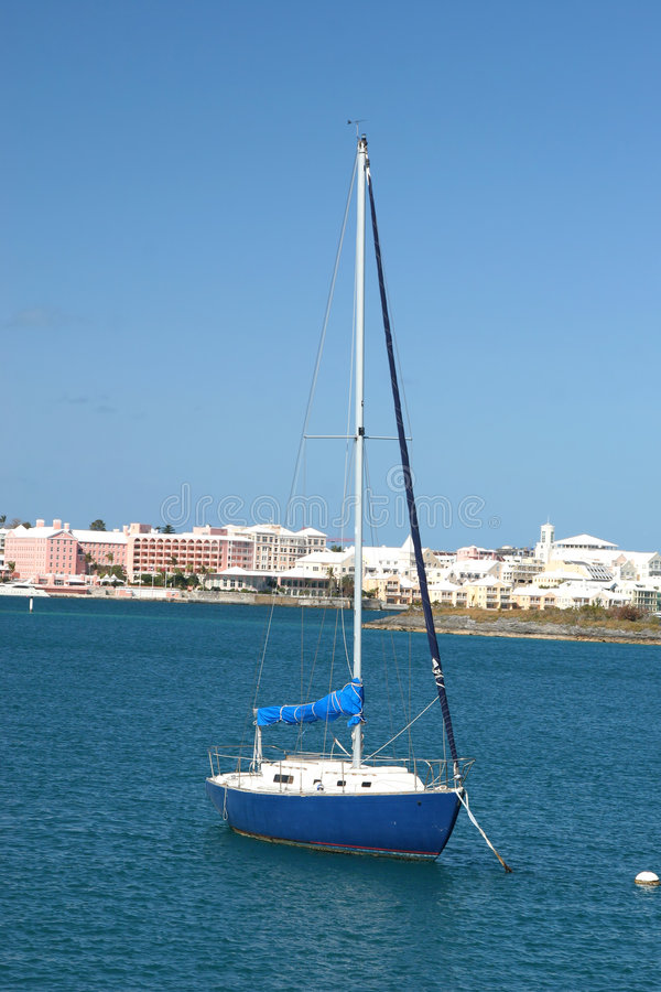 Sailboat de Bermuda imagem de stock royalty free