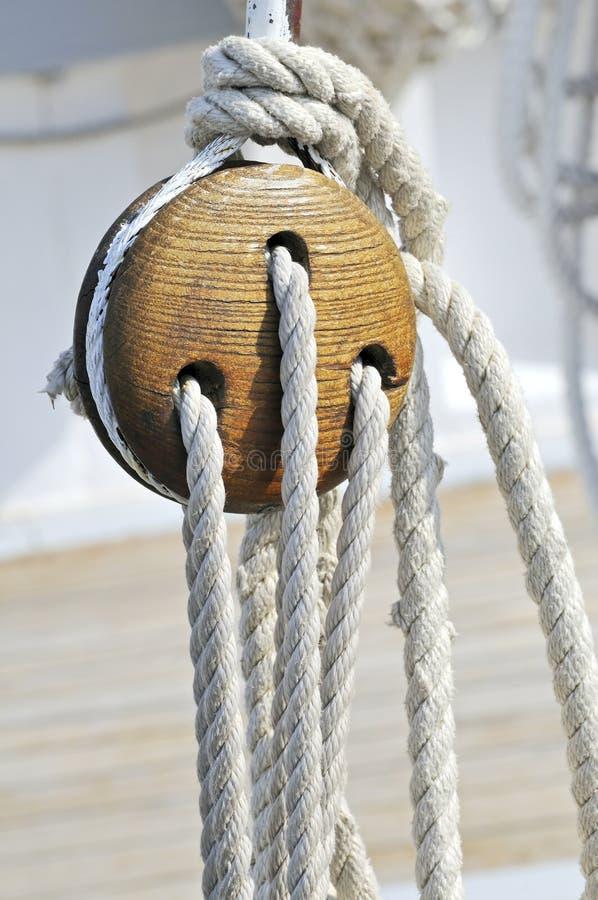 Sailboat detail royalty free stock image
