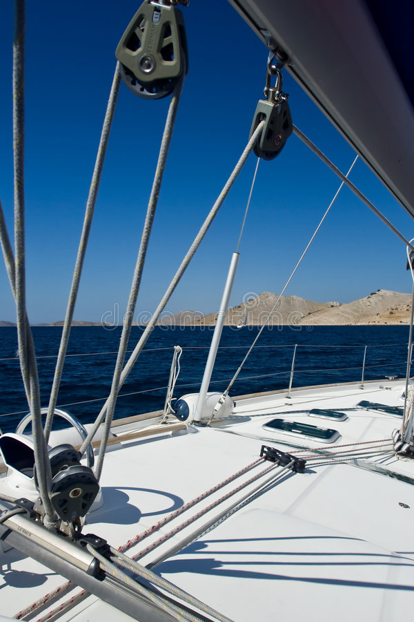 Sailboat Details Stock Photography