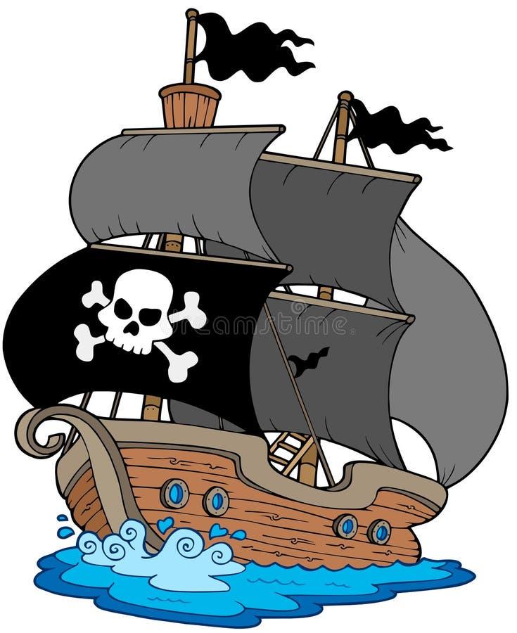 Sailboat do pirata ilustração do vetor