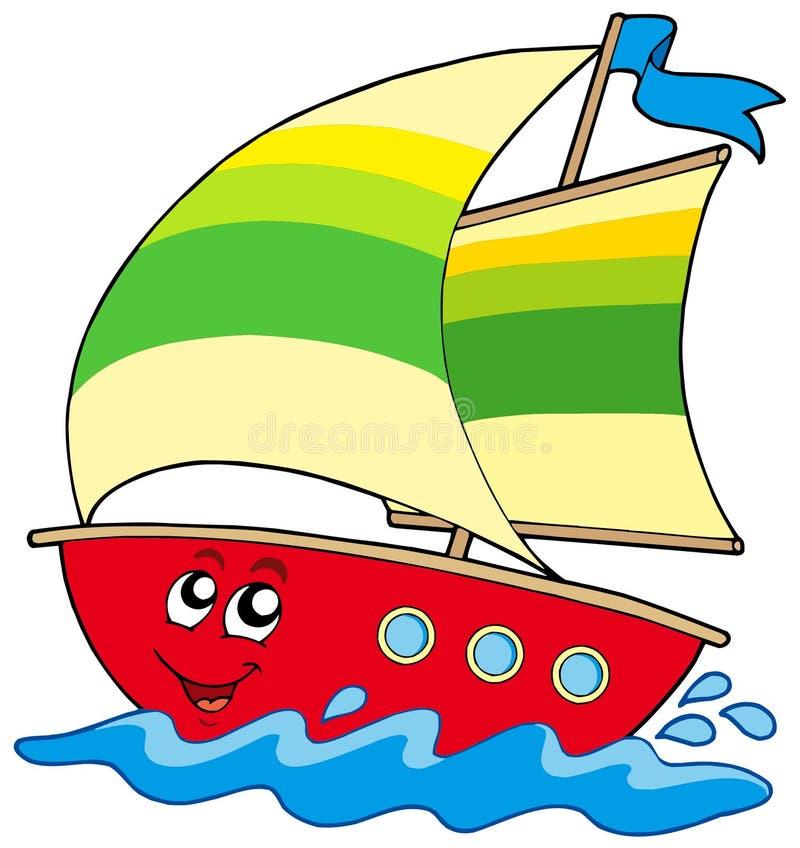 Sailboat dos desenhos animados ilustração royalty free