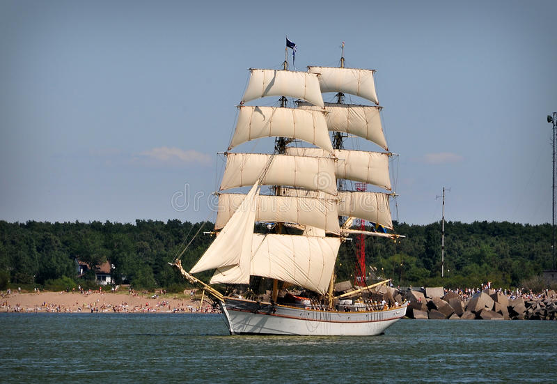 Download Sailboat on full sails stock photo. Image of past, marine - 11071936