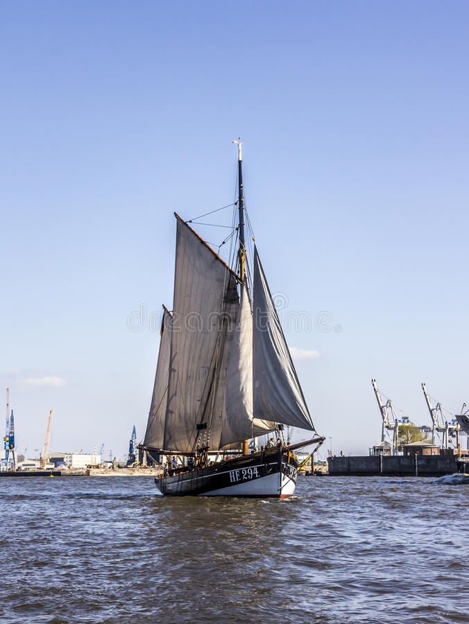 Sailboat histórico imagem de stock