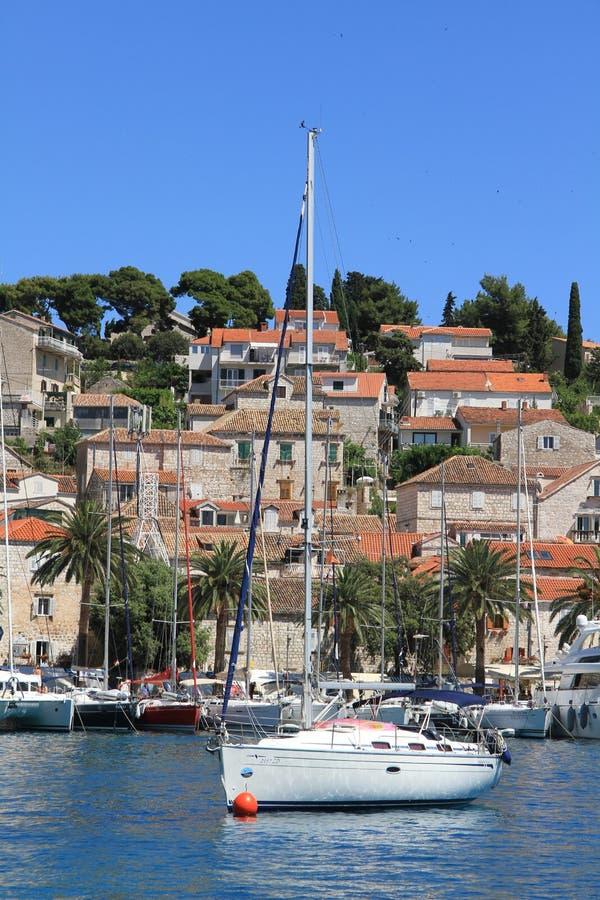 Sailboat Hvar Croatia fotos de stock royalty free