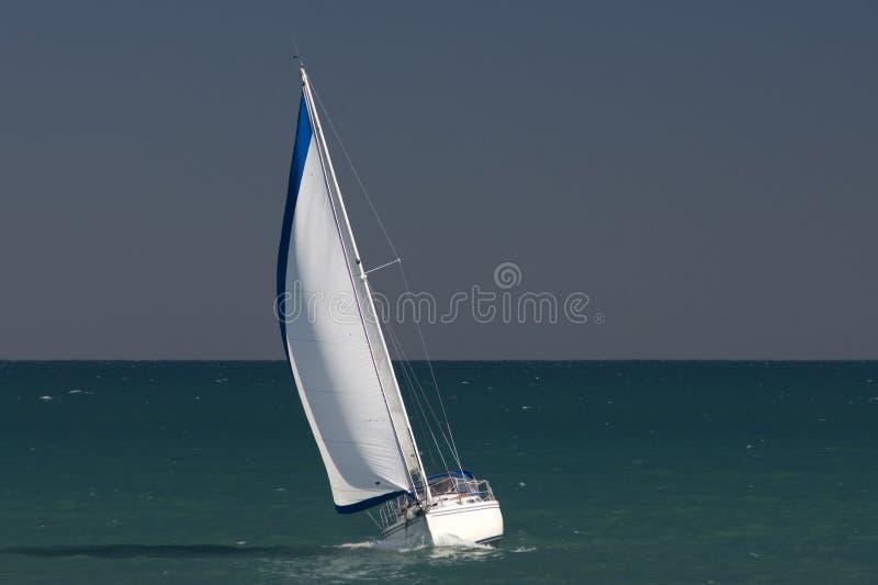 Sailboat on lake Michigan royalty free stock photos