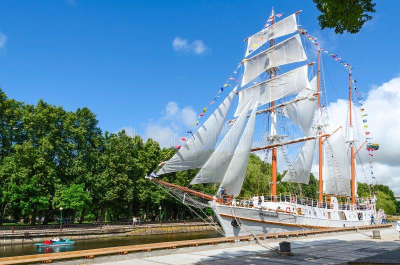 Sailboat Meridianas, Klaipeda, Λιθουανία στοκ εικόνα
