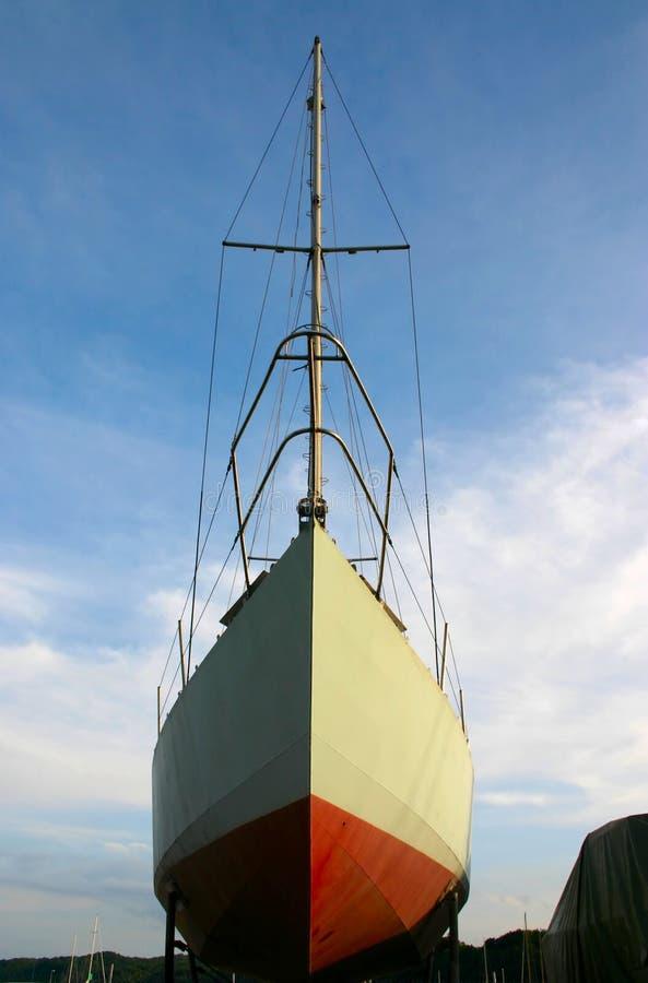Sailboat na doca fotografia de stock royalty free