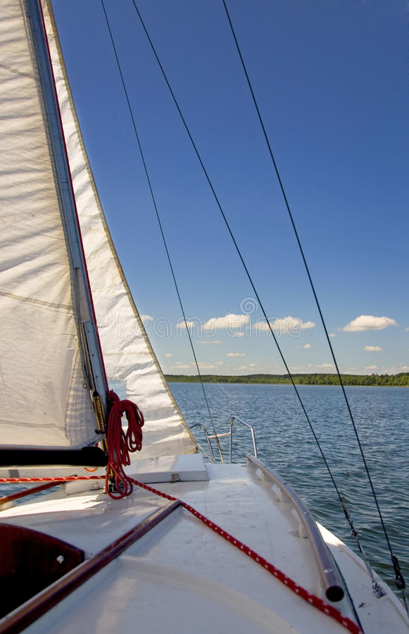 Free Sailboat On A Beautiful Lake Royalty Free Stock Image - 14809096
