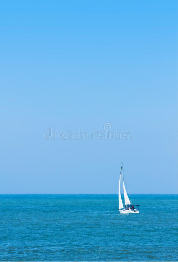Download Sailboat on Pacific Ocean stock photo. Image of sunny - 14164968