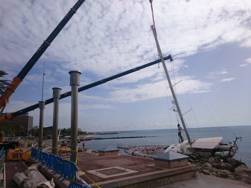sailboat in Palma de Mallorca stock images