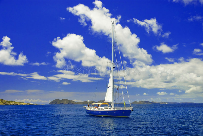 Download Sailboat Paradise stock photo. Image of landscape, boating - 4988704