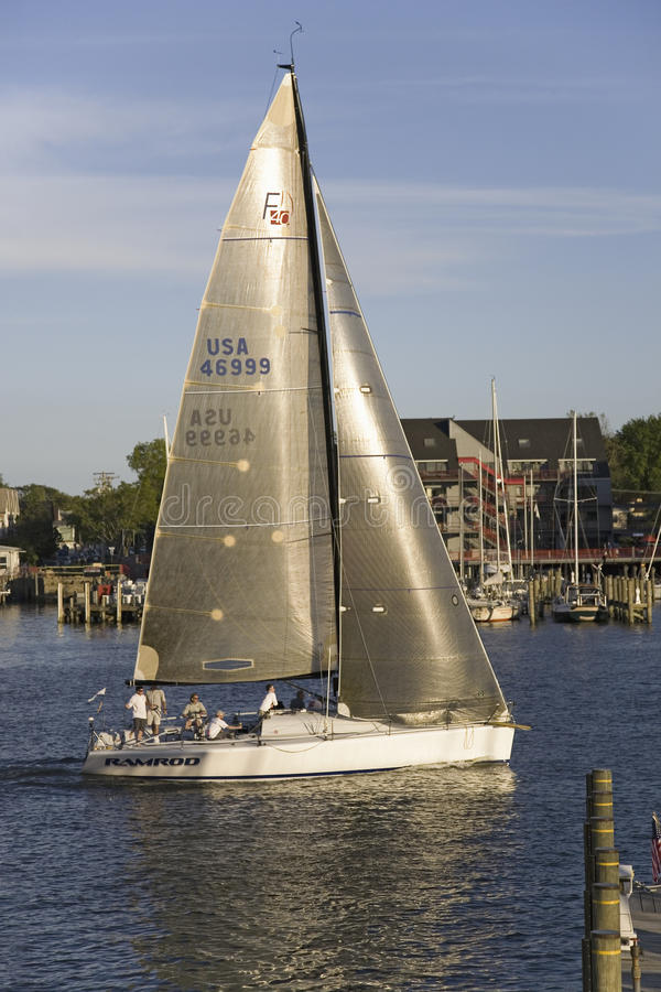 Download Sailboat Race At Yacht Club In Annapolis Editorial Stock Photo - Image: 27071088