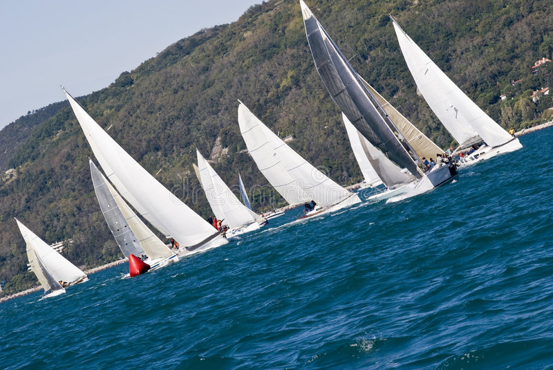 Sailboat Racing royalty free stock photos