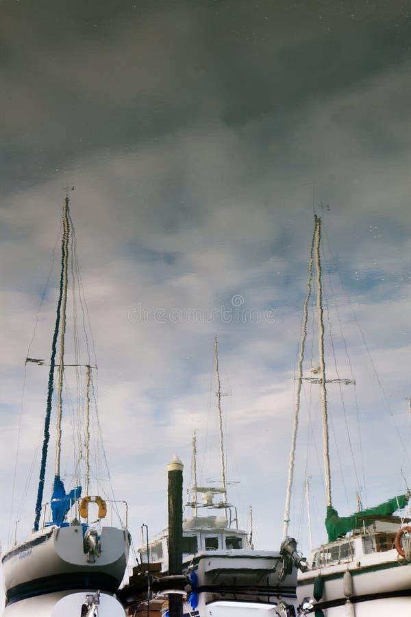 Download Sailboat reflections stock photo. Image of abstract, liquid - 15611982