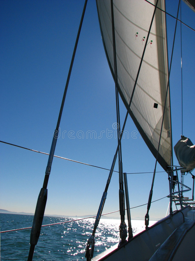 Sailboat Rigging stock photography
