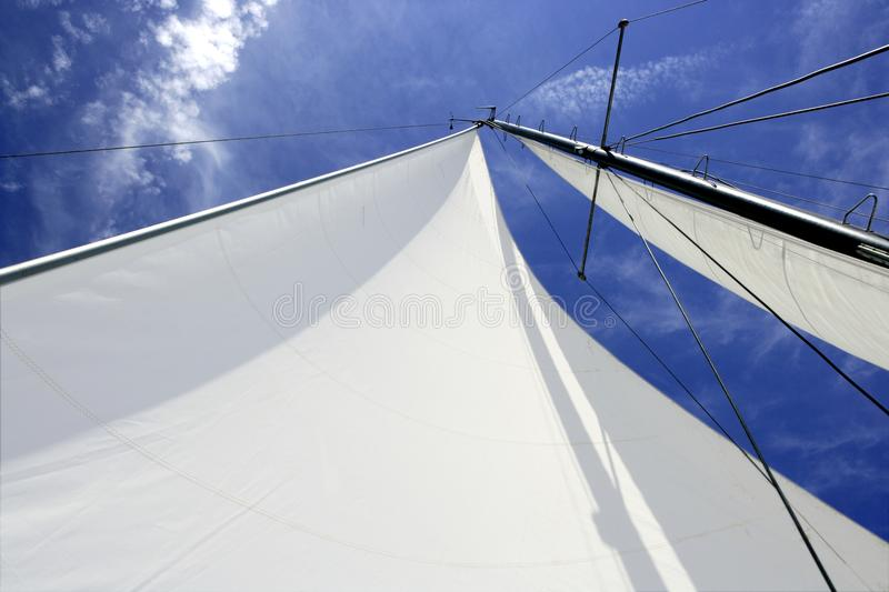 Download Sailboat Sailing Blue Sea On Sunny Summer Day Stock Image - Image: 9913029