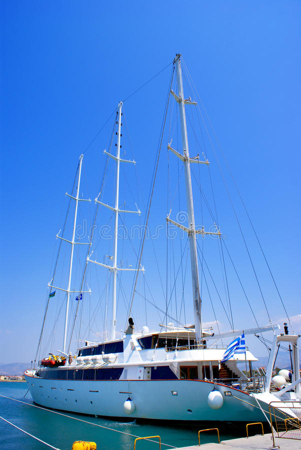 Download Sailboat Sailing In The Morning With Blue Sky Stock Photo - Image: 10871664