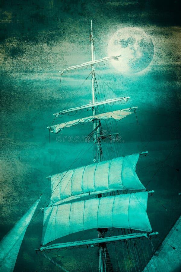 Sailboat sailing vector illustration